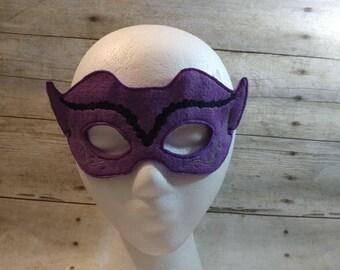 Mardi Gras Mask, Felt Mask, Kids Mask, Machine Stitched, Pretend Play, Child Mask, Festive Mask, Celebration Mask,  Mask, Purple Mask