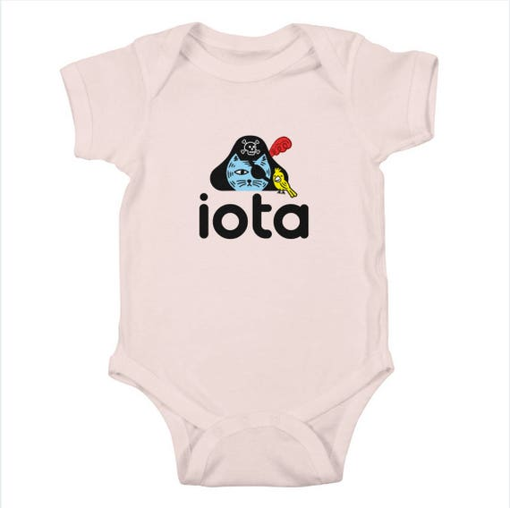 Baby One Piece / Bodysuit - iOTA Pirate Kitty - Soft Pink / Royal Blue / Red / Clover Green / White - by Oliver Lake - iOTA iLLUSTRATION