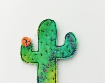 Cactus - green - thread drawn - textike art