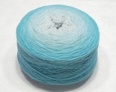 Extrafine merino silk cashmere gradient yarn lace weight yarn handdyed yarn 55-56g (1.9oz) - Muted turquoise