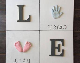 Keepsake for Child -  Kids Keepsake -  Keepsake Art -  Sibling Art  - Sibling Love Plaque -  Child's Art - Ceramic Prints - Personalized Art