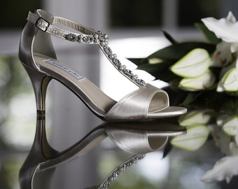 Wedding Shoes with Crystals and Pearls - Over 100 Color Choices to Pick From Wedding Sandals