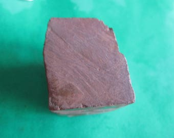 Minnesota Spotted Quarry Red Pipestone Cube About 1-5/8 x 1-1/4 x 1 Inch