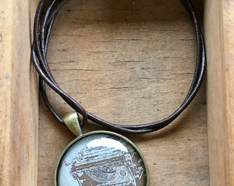Story Typewriter Necklace Type Read Write Gift for Writer My Story