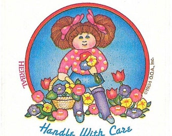 Vintage 1984 Cabbage Patch Kids HERBAL Scratch and Sniff Sticker