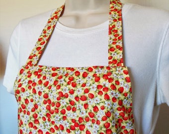 Full Apron - Tiny Strawberries