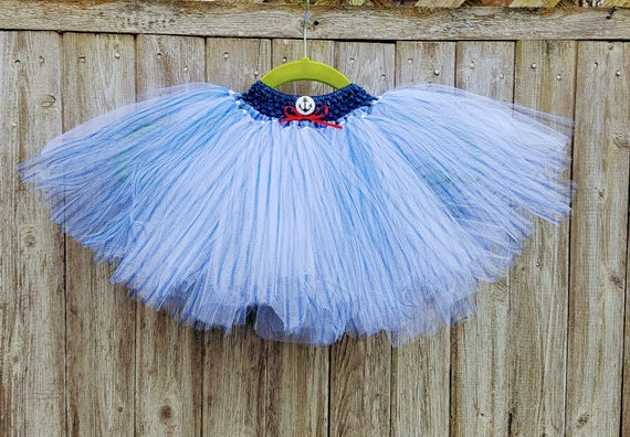 Anchors Away!  Sailor tutu in navy and white. Fits most  3-5 year olds