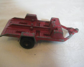 Vintage 1969 Tootsie Toy Die Cast Metal Red Trailer (CM)