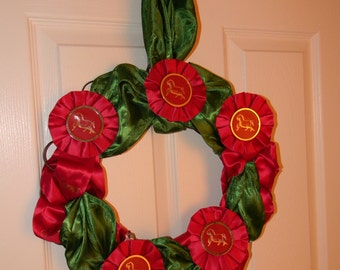 Hanging Horse Ribbon Wreath