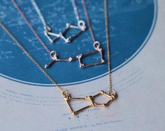 Orion Constellation Necklace, constellation jewellery, gold vermeil, star jewellery