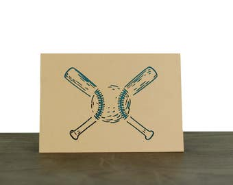 Baseball // Laser Cut Card