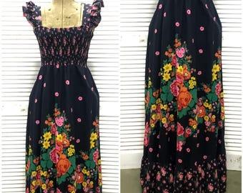 Gorgeous Floral Vintage Sundress by Joseph Riboff - Festival wear - Boho - Summer