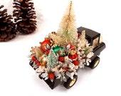 Vintage 50s 60s Tonka Truck, Christmas Decoration, Centerpiece, Fireplace Mantel Decor, Childs Room Decor, Knee Hugger Elf, Vintage toy