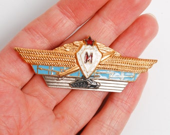 Rare  Vintage badge from USSR, Master class Russian armoured tank trops officers proficiency badge from Soviet Union, USSR