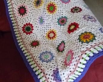 Circle In The Square Granny Afghan