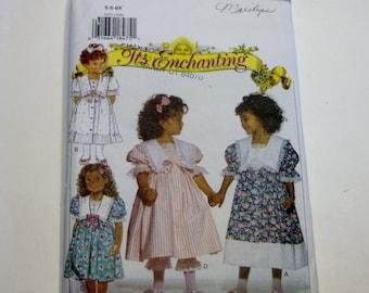 Butterick 3272: Children's Dress and Pantaloons Sizes 5,6,6X UNCUT