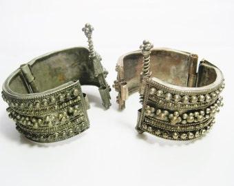 Bracelet yéménite, assorti de paire, bracelet Tribal avec Granulation en argent, bijoux yéménite, Bédouins