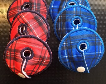 NEW- Perfectly plaid set of 6 gtube pads