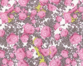 Topiary in Pink - ROSE WATER - Tina Givens - Free Spirit Fabric - By the Yard