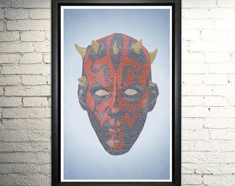 Phantom Menace word art print - 11x17""