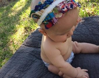 Ivory Paisley Ruffle Baby Headband