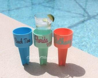 10 Spiker Beach Cup holder Spiker Cup Holder Beach Cup Holder Bridesmaids Gifts Beach Wedding Sorority Gifts Bachelorette Party Beach Cruise