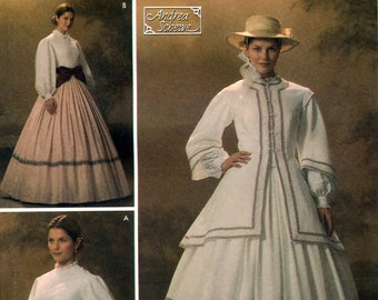 Simplicity 4900 Costumes Sewing Pattern by Andrea Schewe for Misses' Civil War Dress and Jacket - Uncut - Size 10, 12, 14, 16, 18