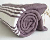 SALE 50 OFF/ BathStyle / No10 Grape / Turkish Beach Bath Towel Peshtemal / Bath, Beach, Spa, Swim, Pool Towels