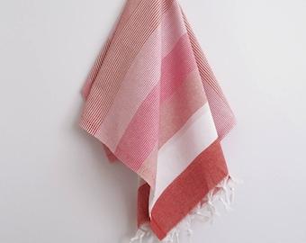 SALE 70 OFF/ Turkish BATH Towel Peshtemal / Red - Pink / Beach, Spa, Swim, Pool Towels and Pareo