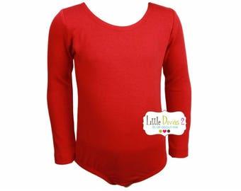 Red Leotard (Child) Long Sleeve Leotard