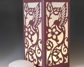 Hummingbird Laser cut Luminary Table Lamp Centerpiece - #38