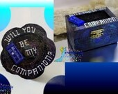 Dr Who Tardis ring box- Will you be my Companion-  Personalize for free