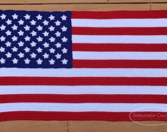 American Flag Afghan Crochet Pattern pdf 235