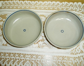 Two Iron Mountain Stoneware Huckleberry Cereal Bowls