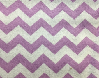 Purple and White Chevrons - FLANNEL - 1 yard