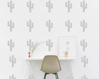 Cactus wall decals, Cactus decor, cactus stickers, living room decor, nursery wall decals, succulent decals, desert cactus, desert decor