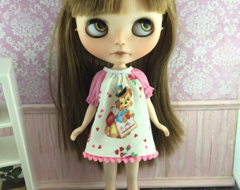 Blythe Smock Dress - Valentines Retro Puppy
