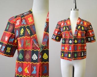 1940s Sombol Guatemalan Handwoven Jacket