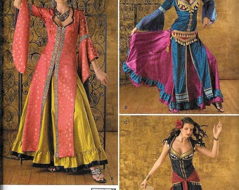 Simplicity 2159 Misses Belly Dancing Gypsy Costume Sewing Pattern UNCUT Size 14, 16, 18, 20, 22