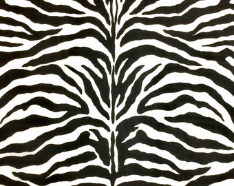 Zebra Print fabric, animal print, black and white fabric 100% cotton Premium Quality designer Fabric for general sewing projects