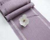 Valentine's Day Burlap Table Runner - Elegant Pale Purlple Decor - Chic Table Topper