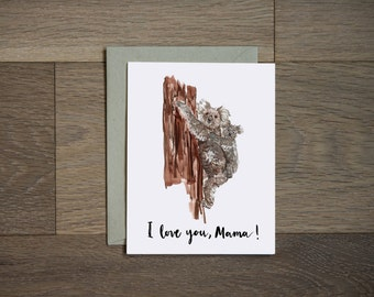 Mother's Day Card - I love you Mom Card, mama, Spring, Mother Card, Birthday Card, Mother