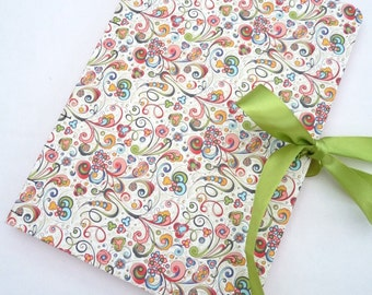 Journal, notebook, A4, pink, florentine, Rossi paper, Art Nouveau, Coptic, rounded, ribbon