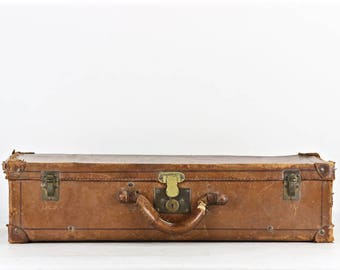 Vintage Leather Suitcase, Leather Suitcase, Old Leather Suitcase, Brown Leather Suitcase, Vintage Suitcase, Photography Prop