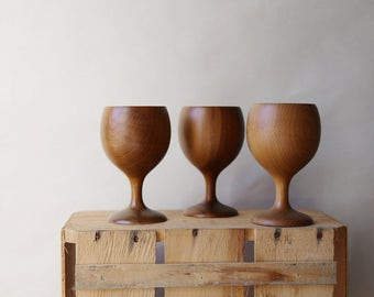 Myrtlewood Goblets, Set of 3