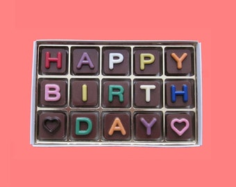 Happy Birthday Gift for Him Her Box Chocolate Jelly Bean Cube Cute Boyfriend Girlfriend Gift for Men from Woman Boy Girl Romantic Cool Idea