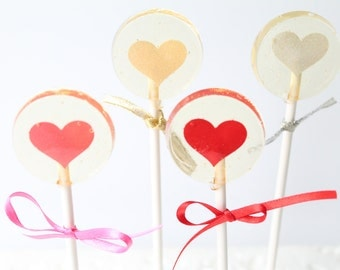 Floating Valentines Hearts  6 pieces 2 sizes