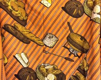 Massive Round Novelty Fondue Tablecloth Joan Stevens Picnic