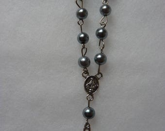 Mini Rosaries (Package of 20)- SILVER (silver or light silver)