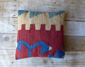 Turkish Wool Kilim Pillow Cover BOHO Throw Pillow
